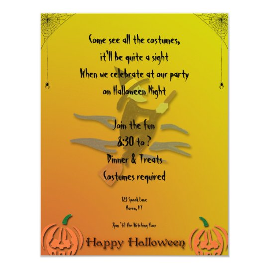 Witchy Woman Halloween Invitation