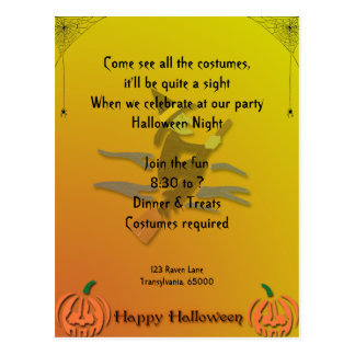 Witchy Woman Halloween Postcard
