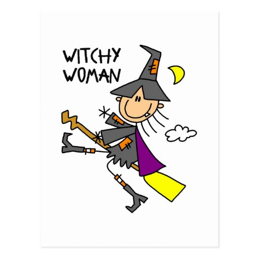 Witchy Woman Halloween Postcards