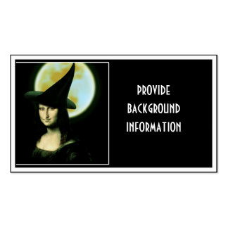 Witchy Woman Mona Lisa Halloween Double-Sided Standard Business Cards (Pack Of 100)