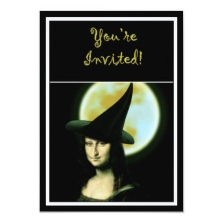Witchy Woman Mona Lisa Halloween Card