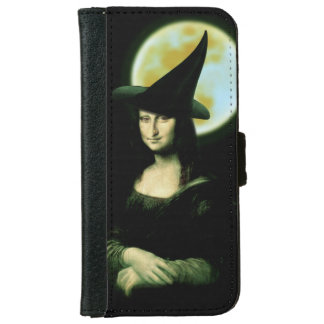 Witchy Woman Mona Lisa Halloween iPhone 6/6s Wallet Case