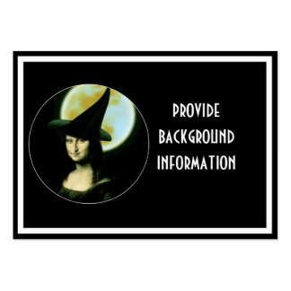 Witchy Woman Mona Lisa Halloween Large Business Card