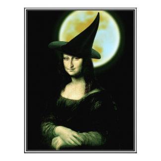 Witchy Woman Mona Lisa Halloween Letterhead