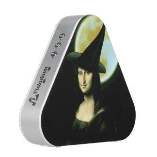 Witchy Woman Mona Lisa Halloween Bluetooth Speaker