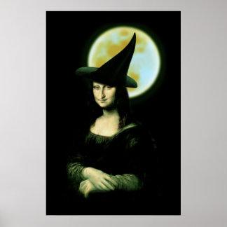 Witchy Woman Mona Lisa Halloween Print