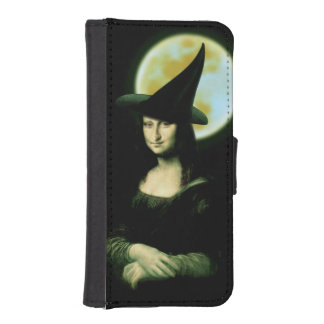 Witchy Woman Mona Lisa Halloween Wallet Phone Case For iPhone SE/5/5s