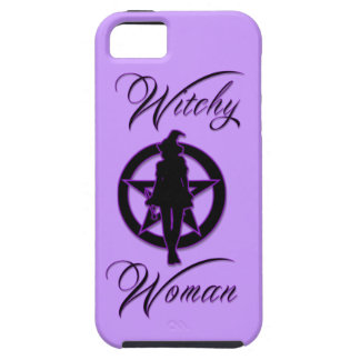 Witchy woman silhouette with pentacle iPhone SE/5/5s case