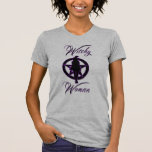 Witchy woman silhouette with pentacle tshirts