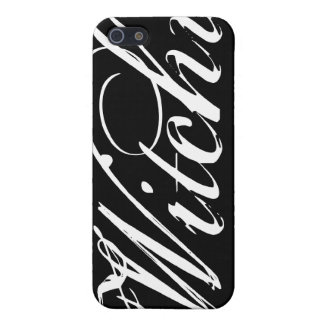 Witchy (YOU choose your background color) iPhone 5/5S Cover