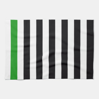 With A Green Stripe Hand Towel
