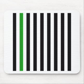 With A Green Stripe Mouse Pad