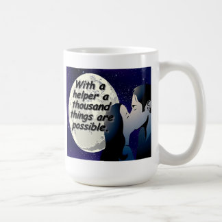 With a helper a thousand things are possible! coffee mug