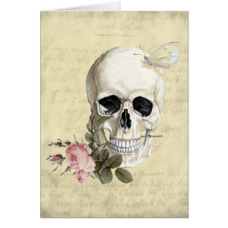 With a rose between my teeth greeting card