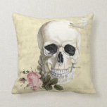 With a rose between my teeth throw pillows