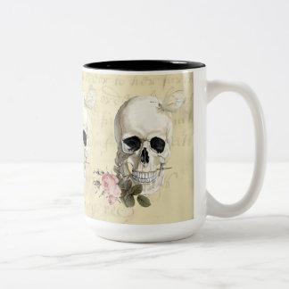 With a rose between my teeth Two-Tone coffee mug