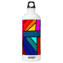 WITH A WINK AND A SMILE! (pattern design) ~ Aluminum Water Bottle