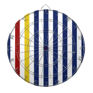 With A Yellow and Red Stripe Dart Board