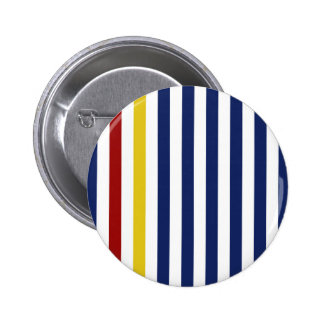 With A Yellow and Red Stripe Pinback Button