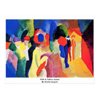 With A Yellow Jacket By Macke August Postcard