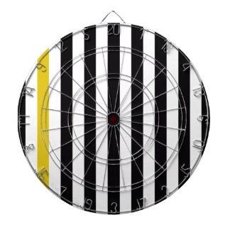 With A Yellow Stripe Dartboard With Darts