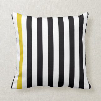 With A Yellow Stripe Throw Pillow