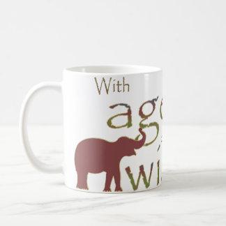 With age comes wisdom coffee mug