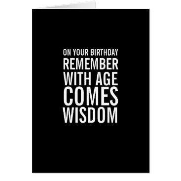 Beach Themed With Age Comes Wisdom Funny Birthday Card