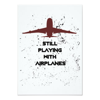 With Airplanes Pilot Men Women Card