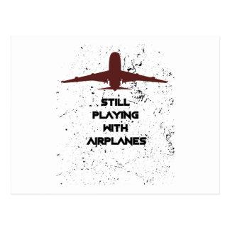 With Airplanes Pilot Men Women Postcard