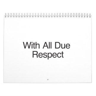 With All Due Respect.ai Calendar
