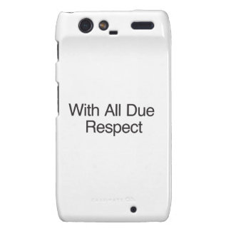 With All Due Respect Droid RAZR Covers