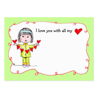 With all my Heart lunch box love note Business Card