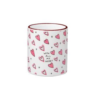With All My Heart - Mug