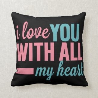 With all my heart pillows
