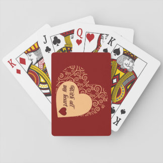 With All My Heart Playing Cards