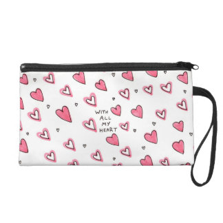 With All My Heart Wristlet Purse