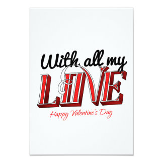 With all my love - Happy Valentine's Day Card