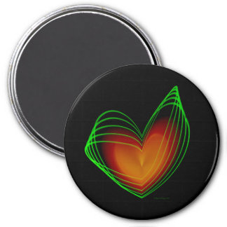 With All My Love 3 Inch Round Magnet