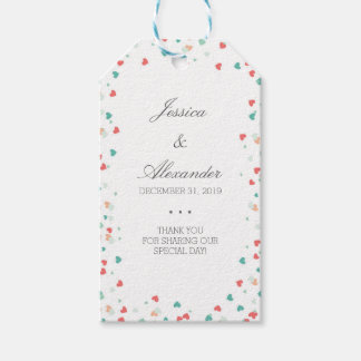 With all our hearts - Wedding Thank You Gift Tags