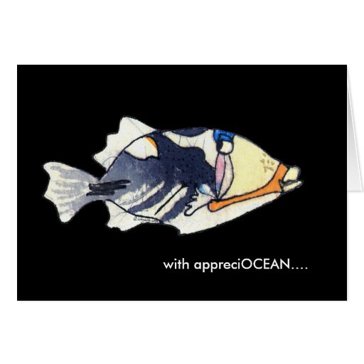 With appreciOCEAN cartoon humu fish thank you card