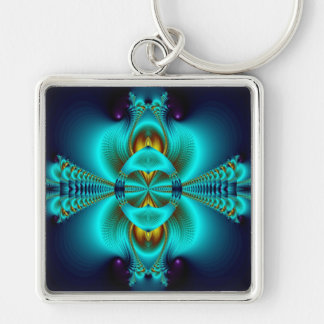 With Arms Wide Open Silver-Colored Square Keychain