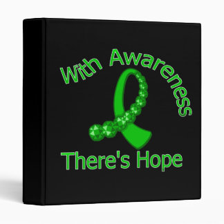 With Awareness There's Hope Spinal Cord Injury Vinyl Binders