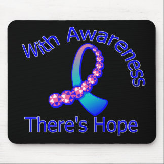 With Awareness There's Hope Thyroid Cancer Mouse Pad