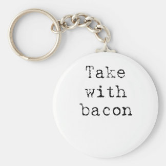 with bacon keychain
