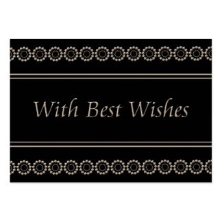 .With best wishes Business Card Template