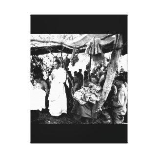 With canvas tarpaulin for a church_War Image
