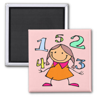 With �cole, one learns how � to count - 2 inch square magnet
