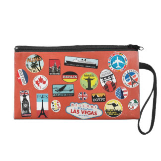 With country music stickers all concerning the wor wristlet