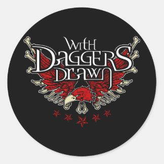 With Daggers Drawn Eag Round Sticker